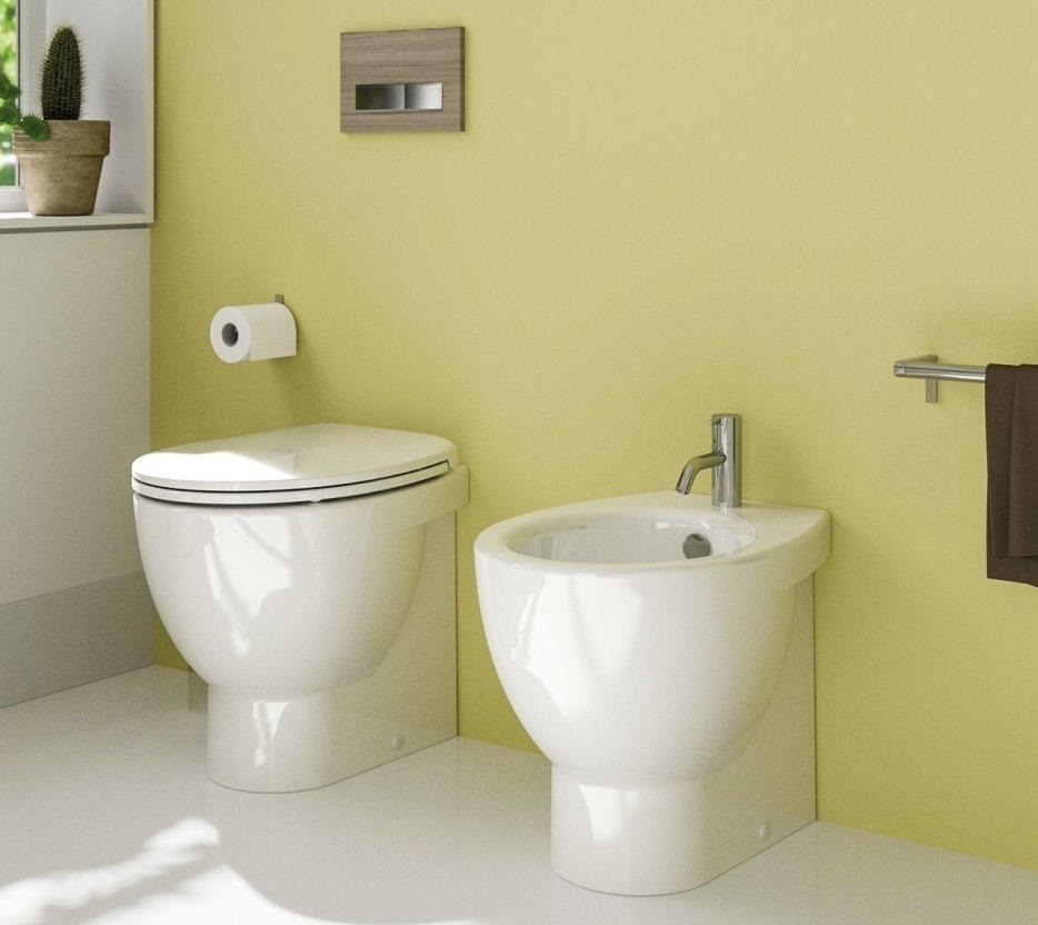 Sanitari vaso wc con sedile e bidet catalano new light 50 for Wc con bidet