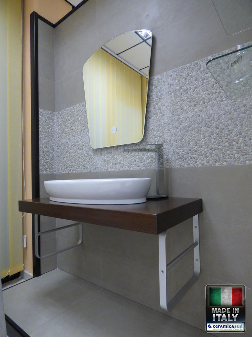 Mobile bagno minimal extra lusso piano d 39 appoggio in legno for Mobile bagno minimal