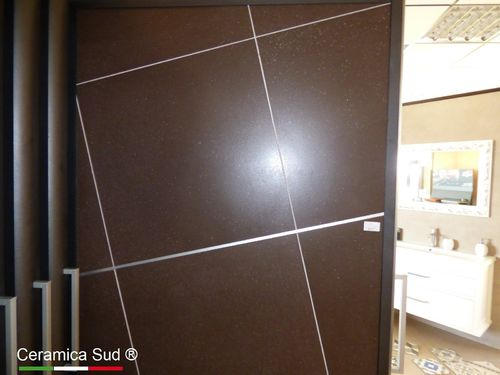 Dark stone effect floor TOUAREG MARRONE Sichenia 60x60 lapped / rectified