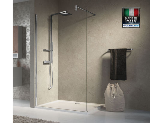 Box Doccia Walk In Lunes H - Made in Italy Novellini 130 cm.
