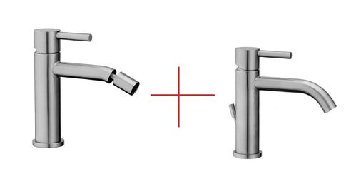 Set taps Paffoni steel - STEEL 071 + STEEL131 FIRST CHOICE