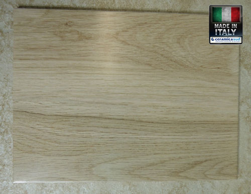 Indoor wall tiles with beige Balsa wood effect
