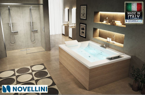 Novellini tub without rectangular whirlpool double station SENSE DUAL