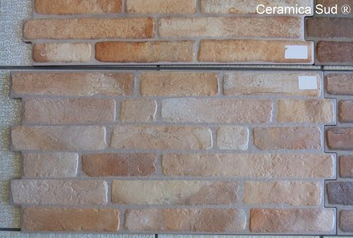 Coated brick wall covering