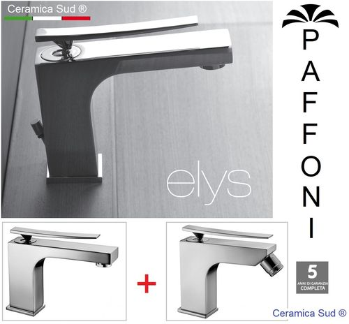 Bath mixer set Series Paffoni Elys washbasin + bidet